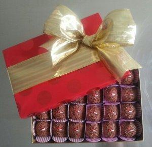 Caja de brigadeiro de chocolate belga